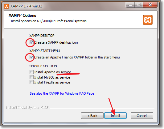 WEB SERVER XAMPP 1.7.4 TÉLÉCHARGER