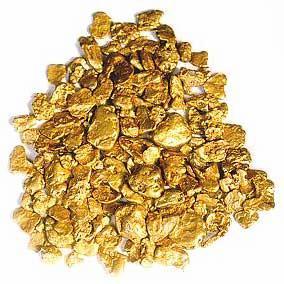 Самородное золото и золотой песок
