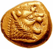 Первая монета из золота
