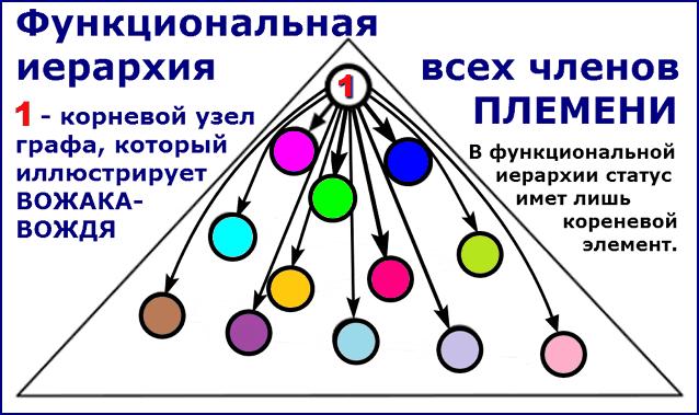 Функциональная иерархия среди членов ПЛЕМЕНИ