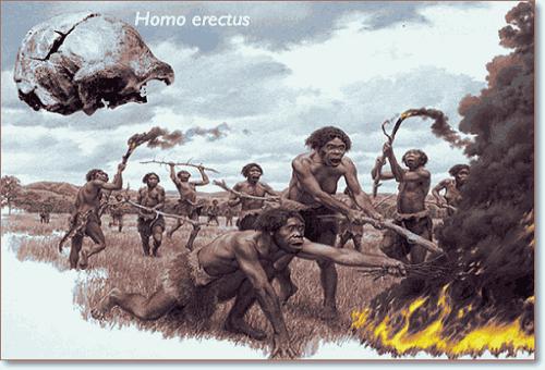 первобытные люди и огонь