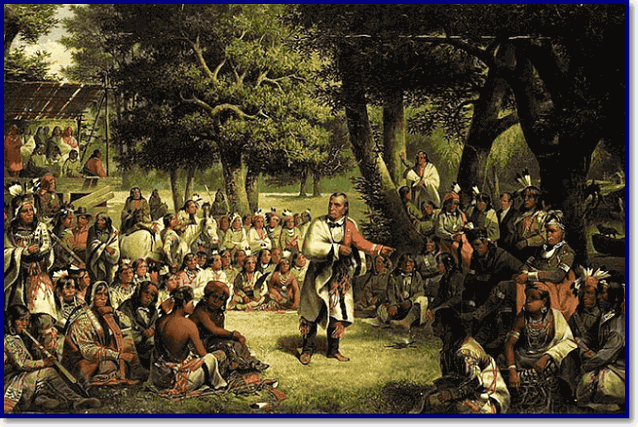 Совет вождей племен у индейцев