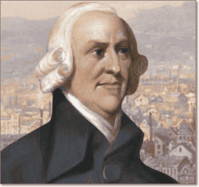 Цветной портрет Адама Смита