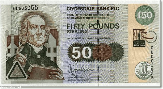 Адам Смит на деньгах