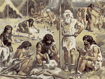 вождь разделяет труд в племени
