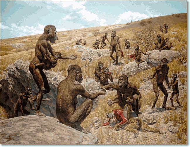 прямохождение гоминиды приобрели 6 миллионов лет назад