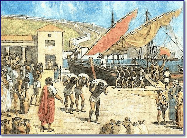 Порт греческого города