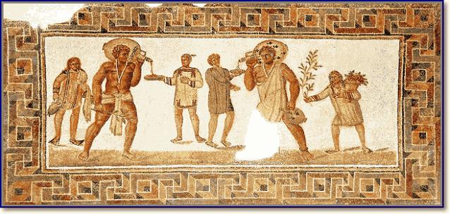 изображение рабов славян на фреске в Риме