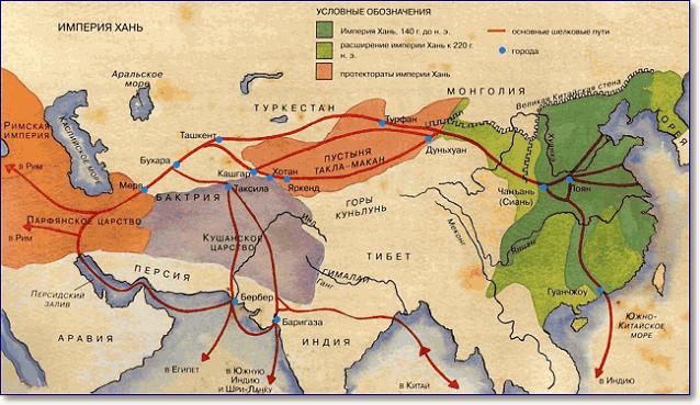 Продвижение империи Хань в Среднюю Азию