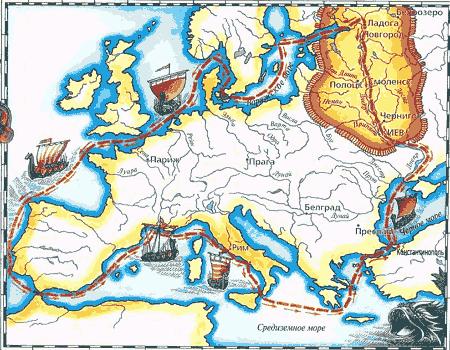 Из варяг в греки карта