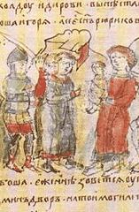 Олег перед убиением показывает Аскольду и Диру малолетнего Игоря