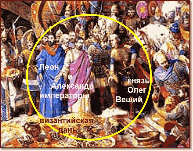 летописный поход князя Олега на Царьград