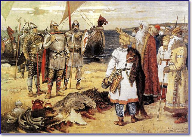 Призвание варягов на Русь Васнецов