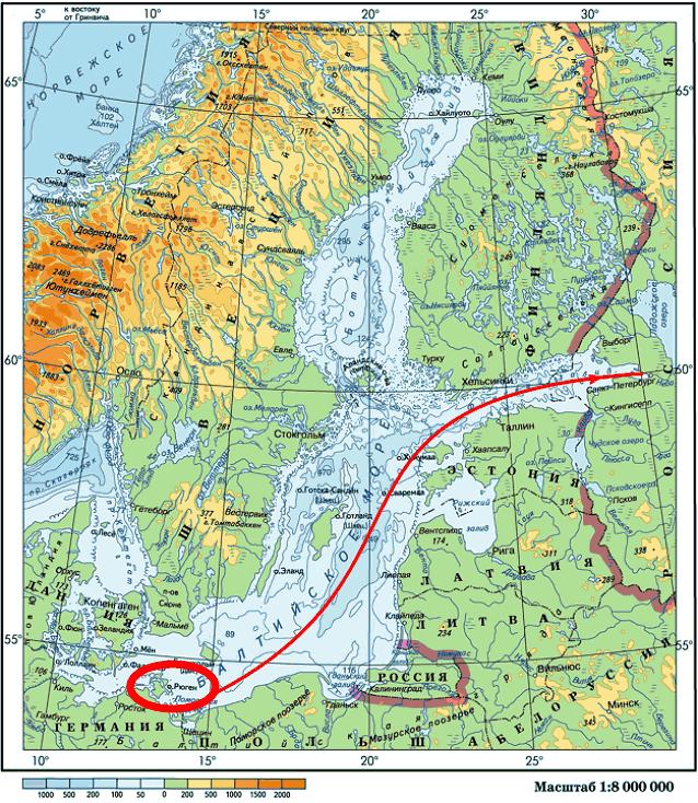 остров Рюген как предполагаемая родина Рюрика