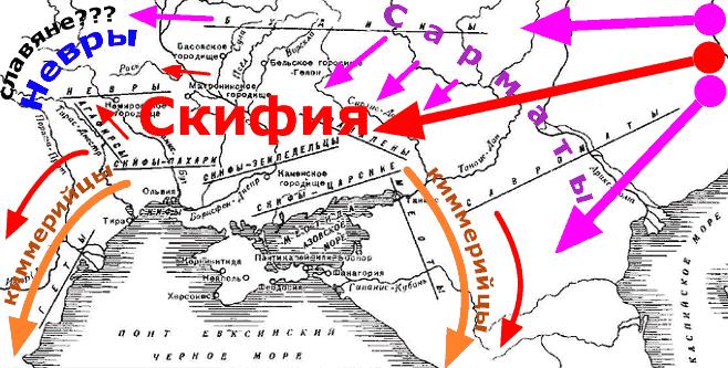 Скифские племена карта расселения