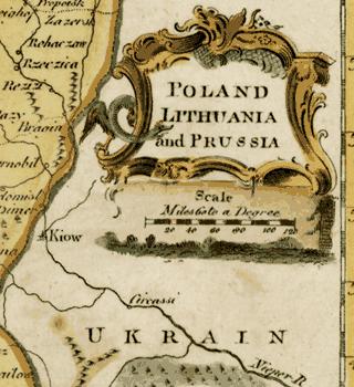 Ukrain на картах Англии