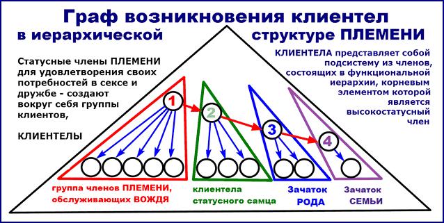 Граф появления клиентел в структуре ПЛЕМЕНИ