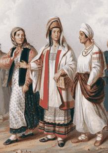 Одежда русских разных губерний