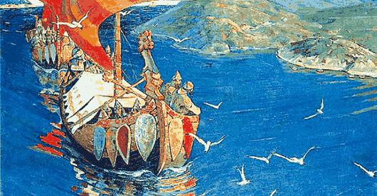 Картина Заморские гости Николая Рериха