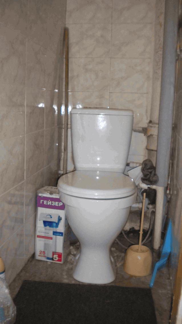 туалет замена половой плитки