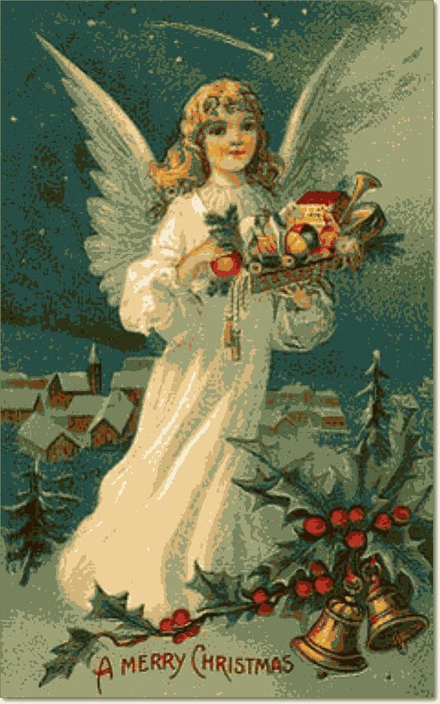 рождественский ангел принес подарки детям