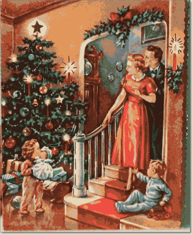 открытка с европейским рождеством