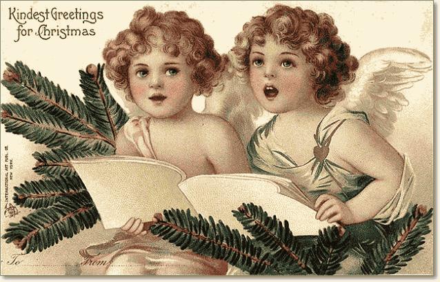ретро открытки с Новым годом и Рождеством