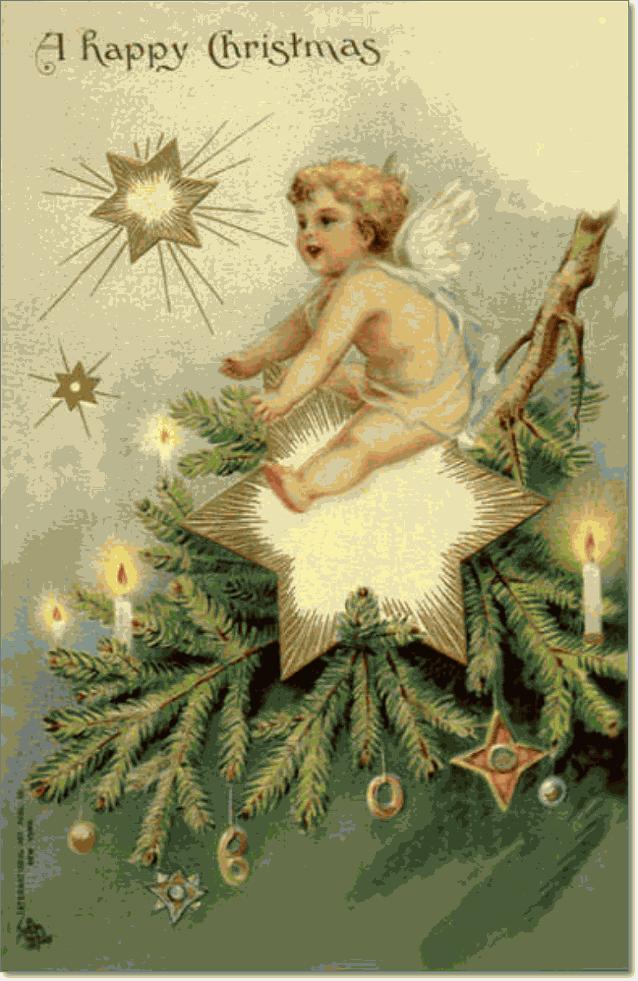 рождественские ретро открытки