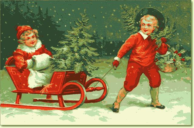 открытки A Merry Christmas