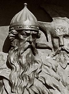 Гедимин на памятнике 1000-летия государственности России