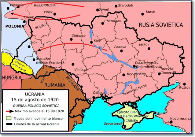 Карта Украины 1920 год