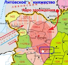 территория княжества Литовского