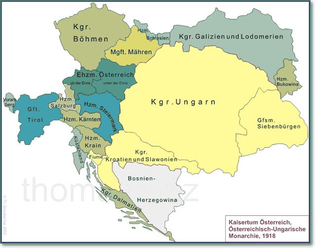 Лоскутная империя Австро-Венгрия 1918 год