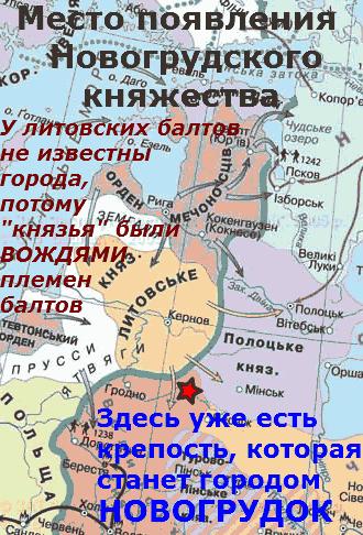 место образования Новогрудского княжества