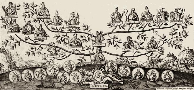 Генеалогическое древо Палемоновичей было создано для ублажения Гедиминовичей
