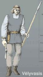пеший литовский воин