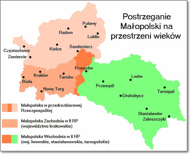 Галиция была восточной частью Малопольской провинции в Речи Посполитой