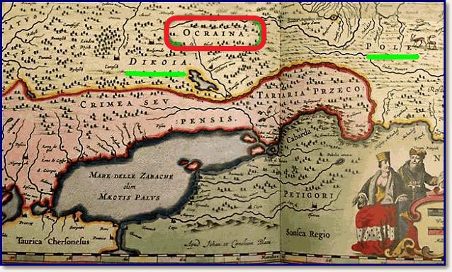 Топоним Ocraina для русской окраины севернее Дикого Поля