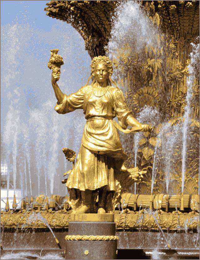 Украина фонтан Дружба народов