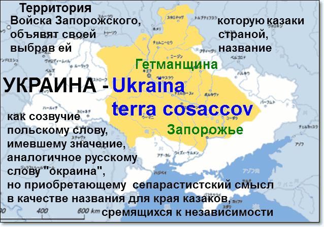 Слово Украина Ukraina - было лозунгом незалежности казаков от Польши