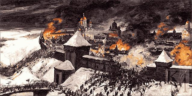 после 6 дней осады зимой 1237 татары ворвались в Старую Рязань и превратили город в пепелище