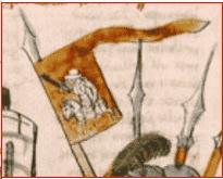 КРАСНОЕ знамя ВкЛ с гербом Погоня