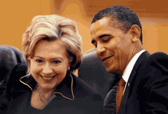 Хиллари и Барак Обама