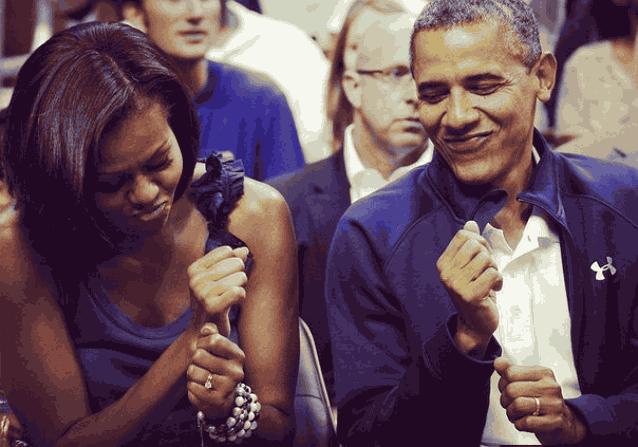 Мишель Обама танцует