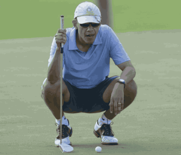 Обама гольф