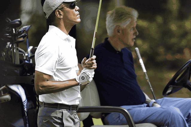 Обама и Билл Клинтон