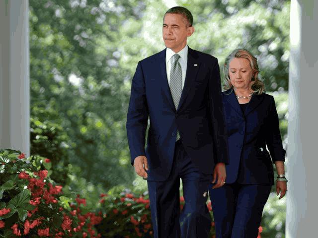 Обама и Хиллари Клинтон фото
