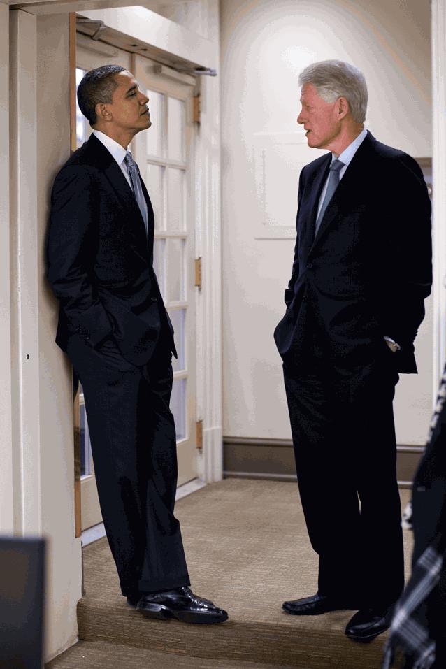 Барак Обама и Билл Клинтон
