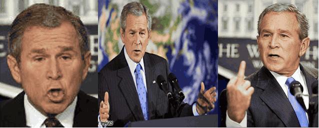 Джордж Буш коллаж