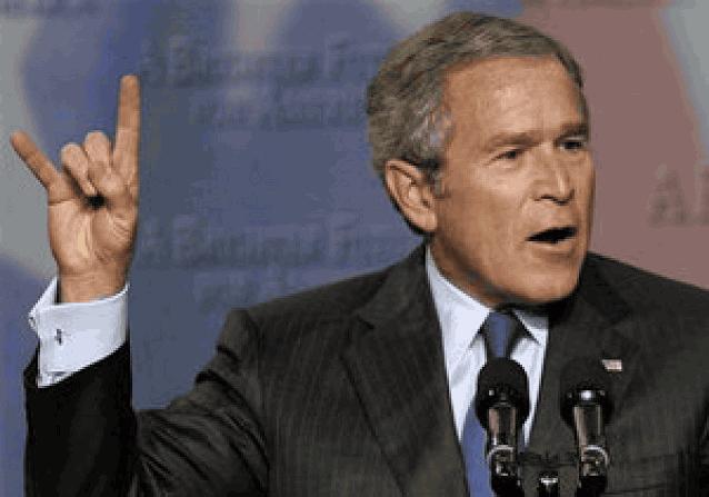 Джордж Буш жесты